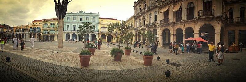 Photo:Panorama of Plaza Vieja .. Havana By:Nick Kenrick. thanks for birthday greetings ..16th