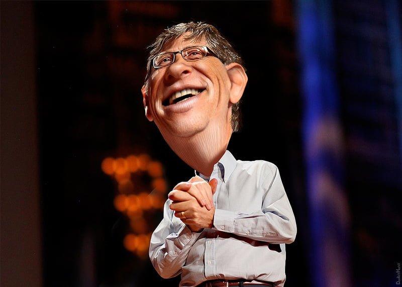 Photo:Bill Gates - Caricature By:DonkeyHotey