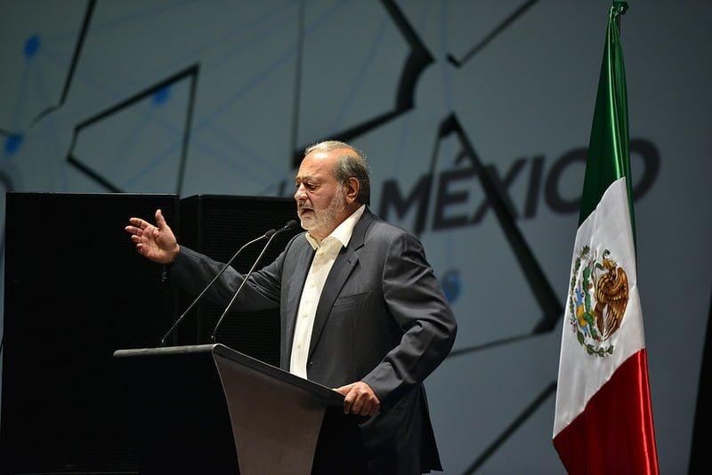 Photo:Mr Carlos Slim Helu, Founder and President, Carlos Slim Foundation, speaking at Aldea Digital, Mexico City, Mexico By:ITU Pictures